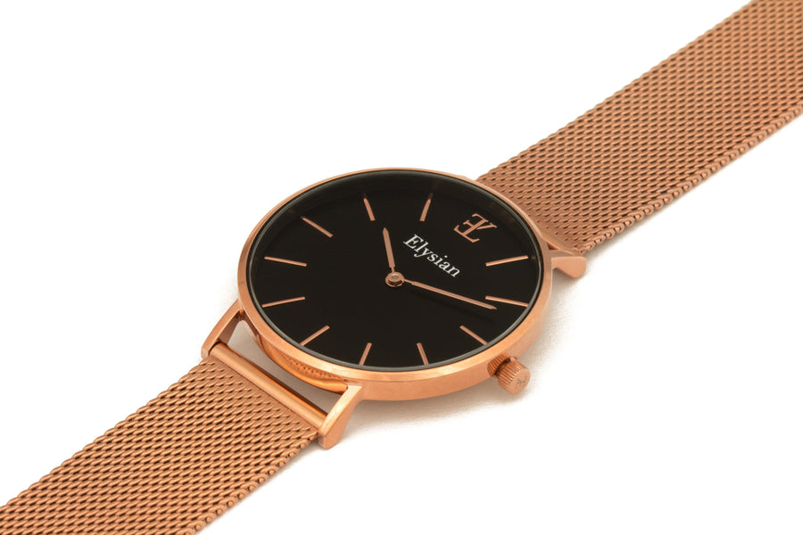 Rose Gold Black - Mesh