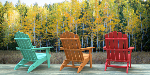 Adirondack Chairs in the fall by PolyTEAK