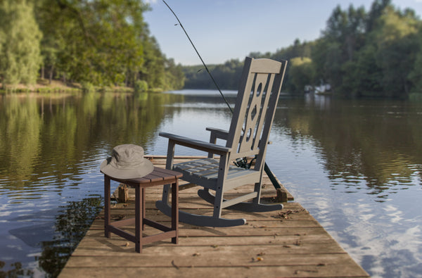 Rocking Chair on Lake Fishing