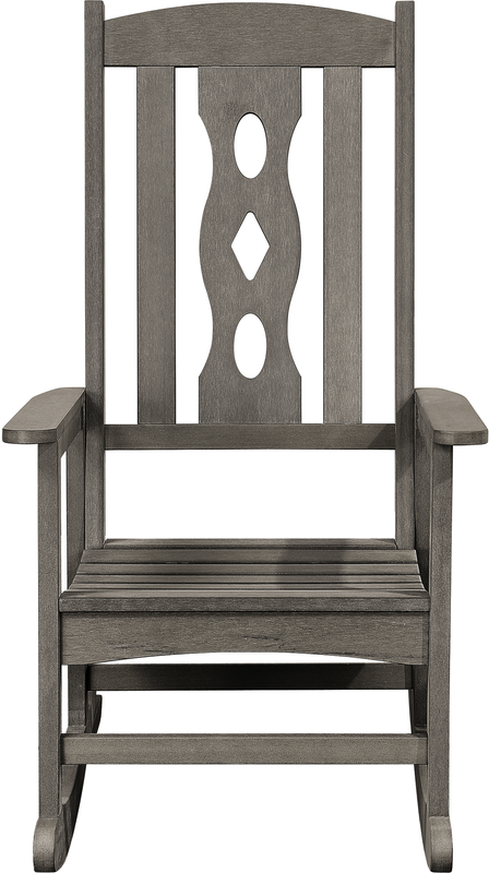 Carved Outdoor Rocking Chair