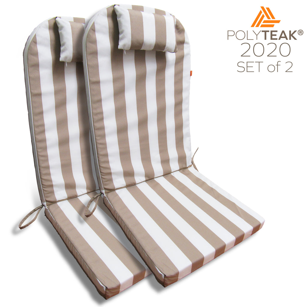 Outdoor Cushions for Adirondack Chair High Back with Head Pillow