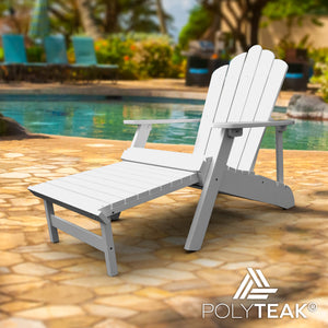 Remarkable Deluxe Reclining Adirondack With Pullout Ottoman Polyteak Cjindustries Chair Design For Home Cjindustriesco