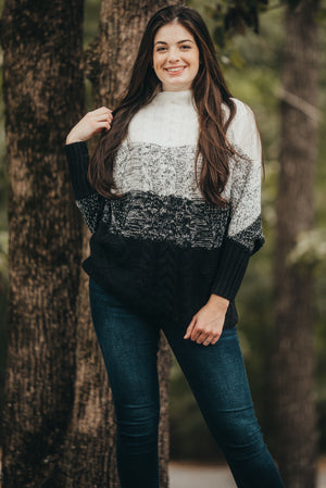 Black Contrast Sweater