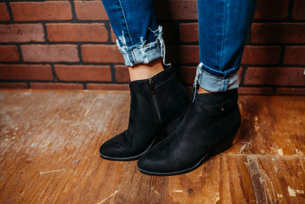 Rory Black Suede Boots