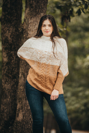 Mocha Contrast Sweater