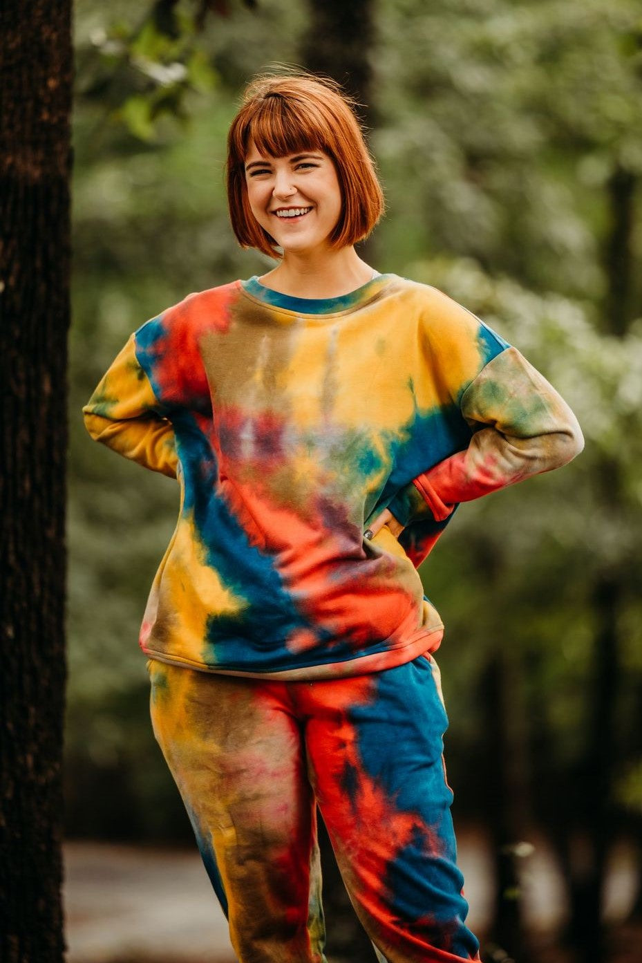 Rainbow Tie Dye Lounge Top