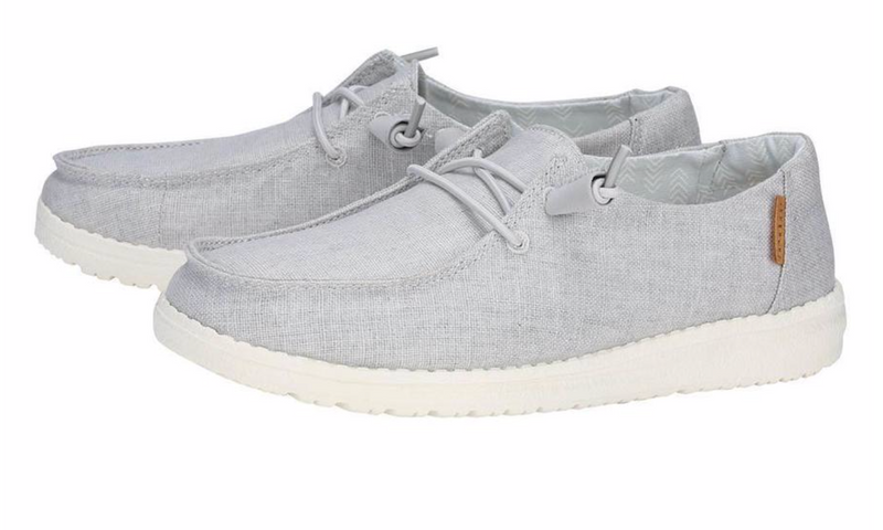 Women's Wendy Chambray Light Grey Hey Dudes