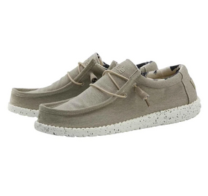 Men's Wally Stretch Beige Hey Dudes