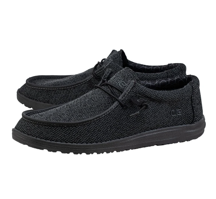 Men's Wally Sox Micro Total Black Hey Dudes
