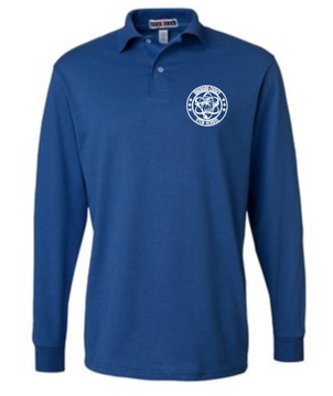 Oakboro Stem Long Sleeve Polo- Royal