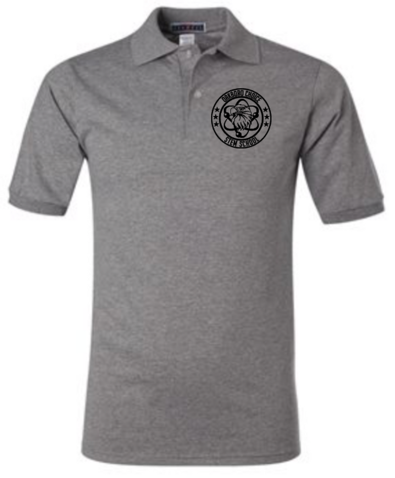 Oakboro Stem Short Sleeve Polo- Grey