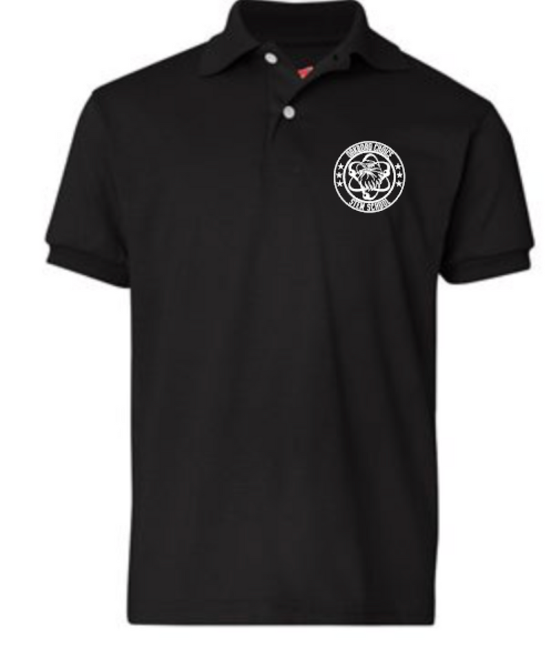 Oakboro Stem Short Sleeve Polo- Black