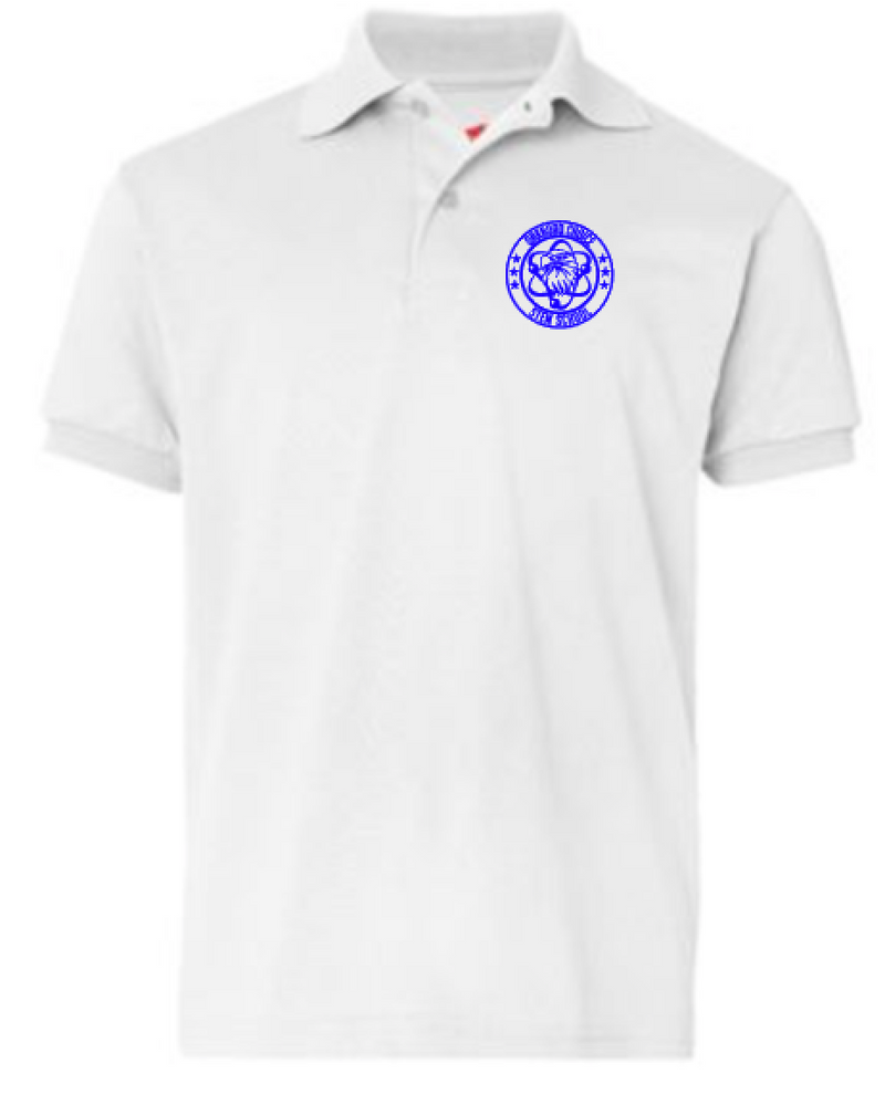 Oakboro Stem Short Sleeve Polo- White