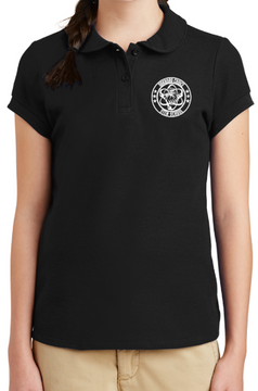 Oakboro Stem Girls Peter Pan Polo- Black