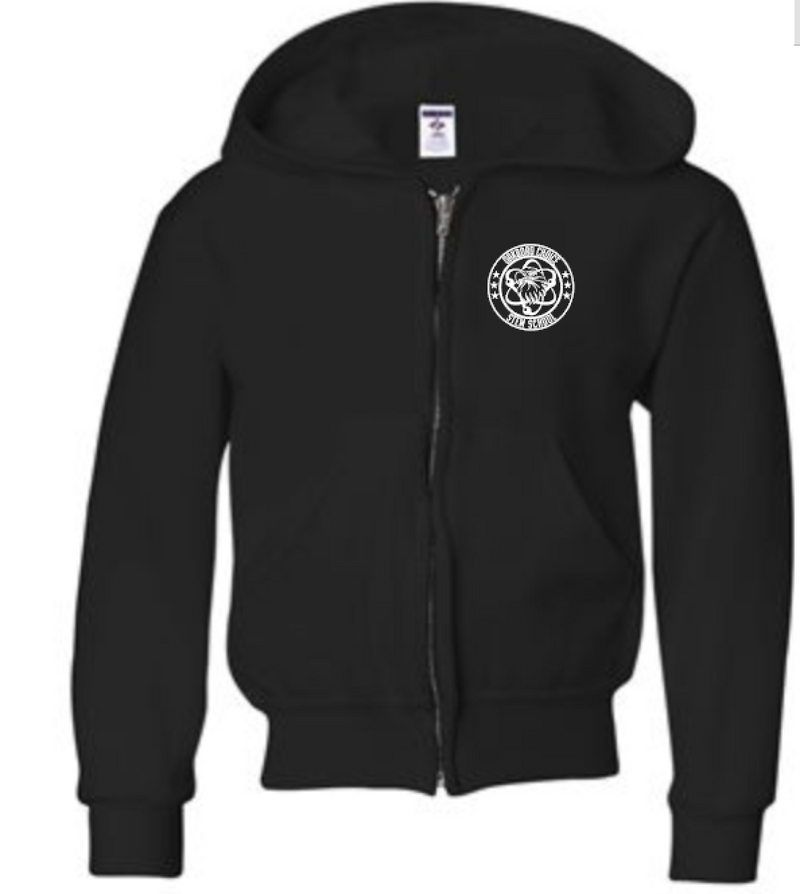Oakboro Stem Zip Up- Black