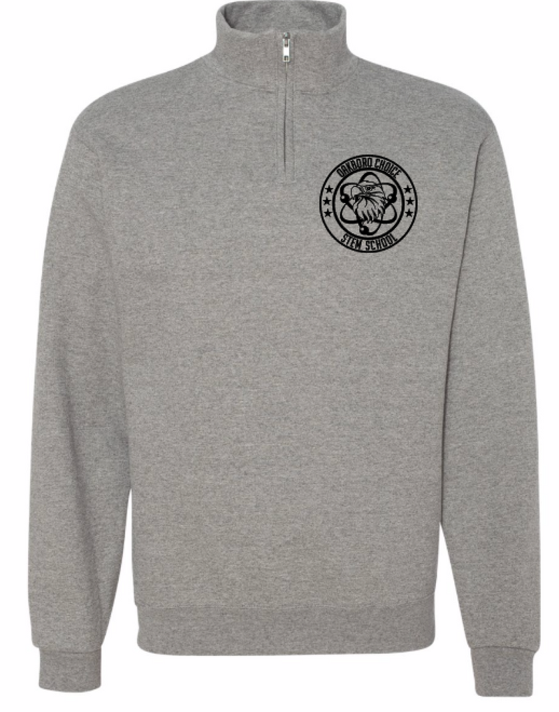 Oakboro Stem Quarter Zip-Grey