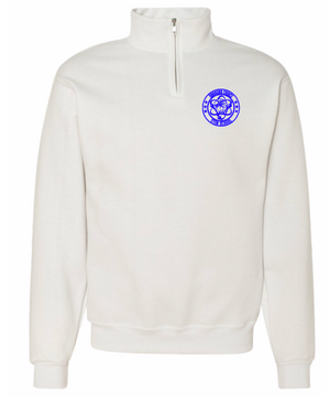 Oakboro Stem Quarter Zip-White