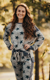Grey Vintage Star Top