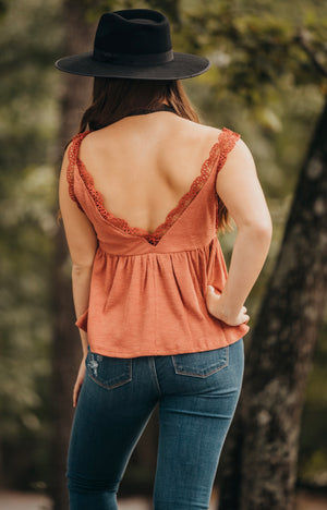 Clay Crochet Detail Tank Top