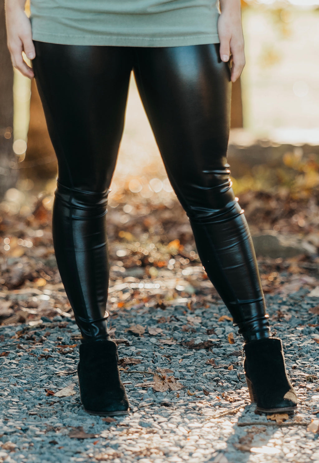 Glossy Liquid High Waisted Leggings