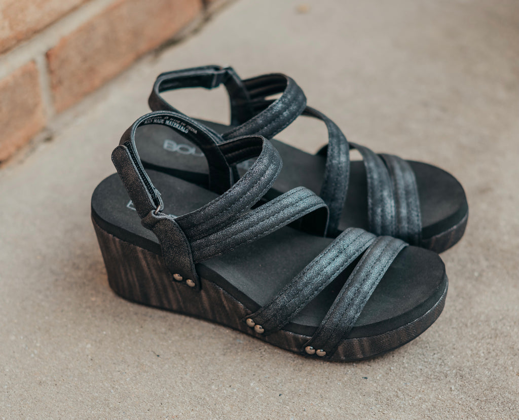 Lifeguard Black Metallic Wedge