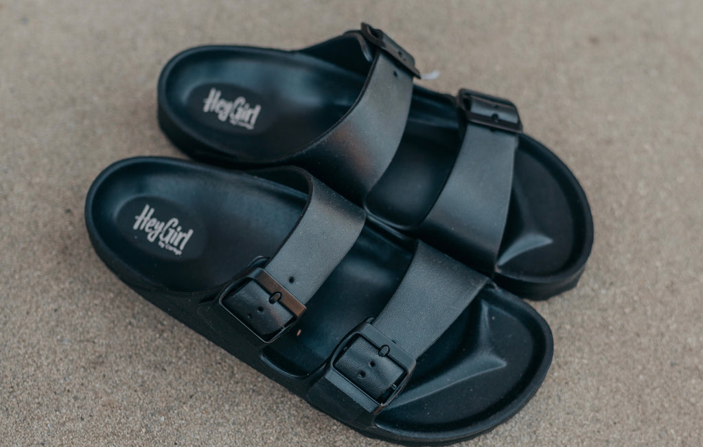 Black Waterslide Sandal