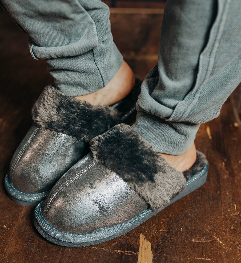 Snooze Pewter Slippers