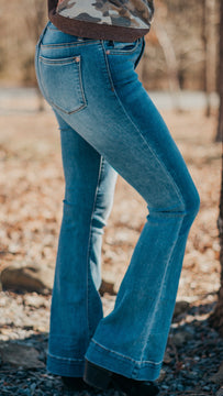 Judy Blue High-Waisted Trouser Flare Jeans