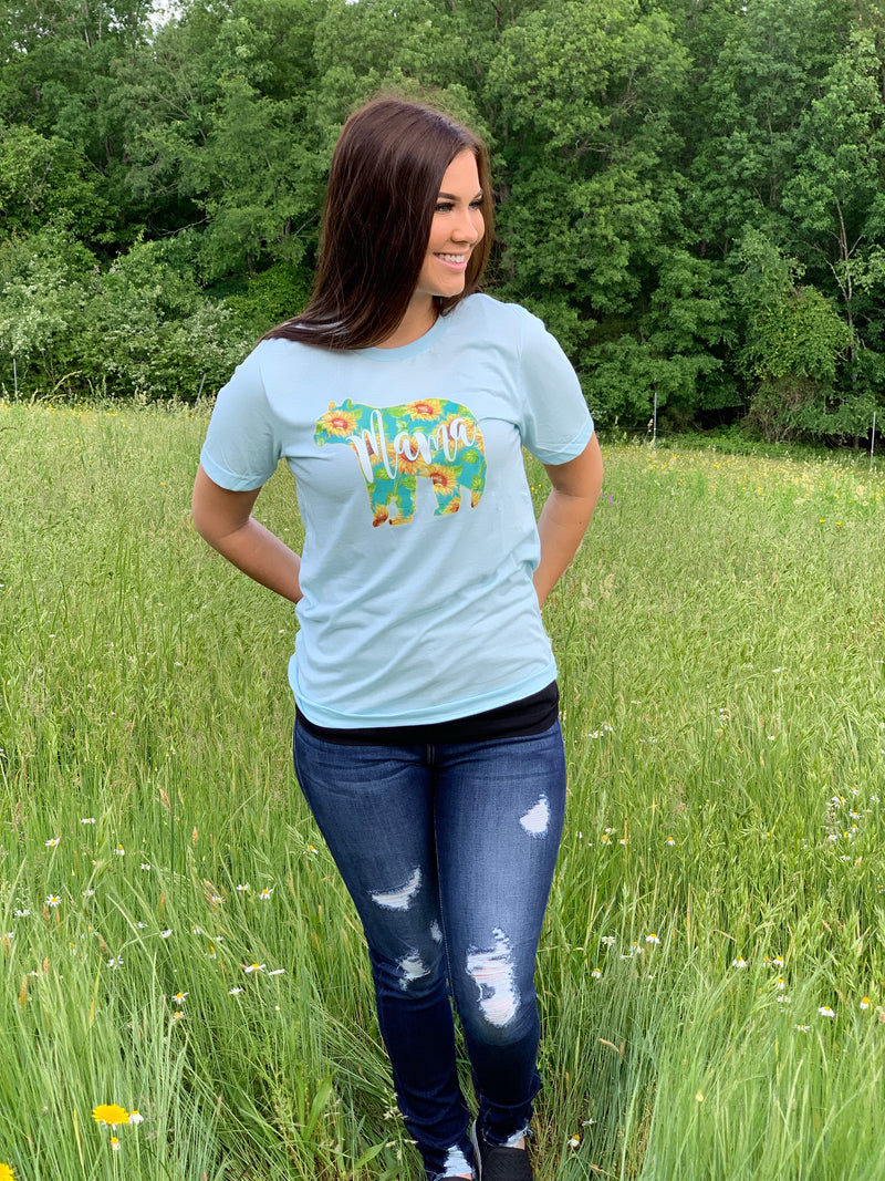 Mama Bear Sunflower Tee