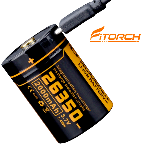 FITORCH UC20R ΜΠΑΤΑΡΙΑ ΛΙΘΙΟΥ 26350-2000mAH FITORCH