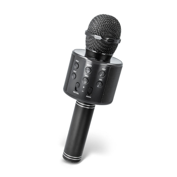 MAXLIFE MX-300 MICROPHONE WITH BLUETOOTH SPEAKER BLACK