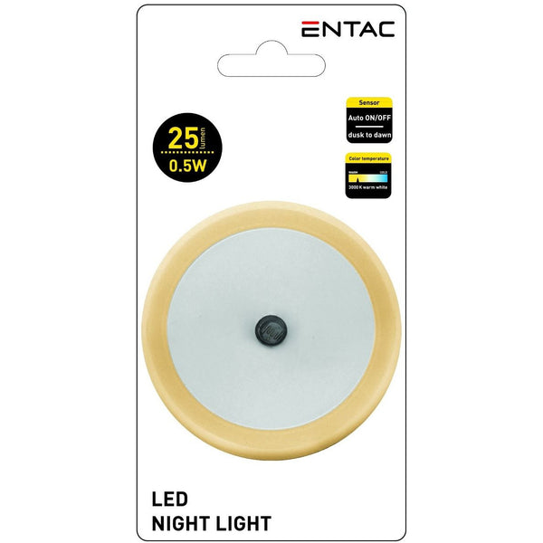 Entac Night Light 0.5W Circle CW Orange
