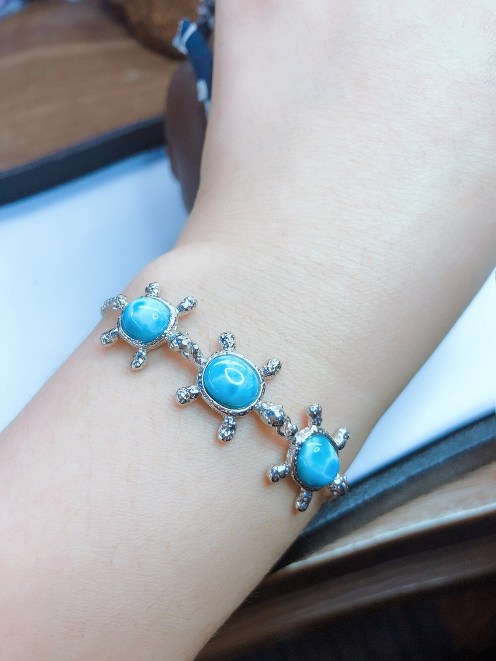 Natural Blue Larimar Bracelet