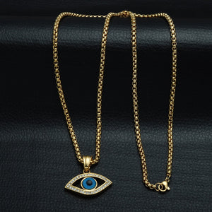 Iced Out Evil Eye Necklace