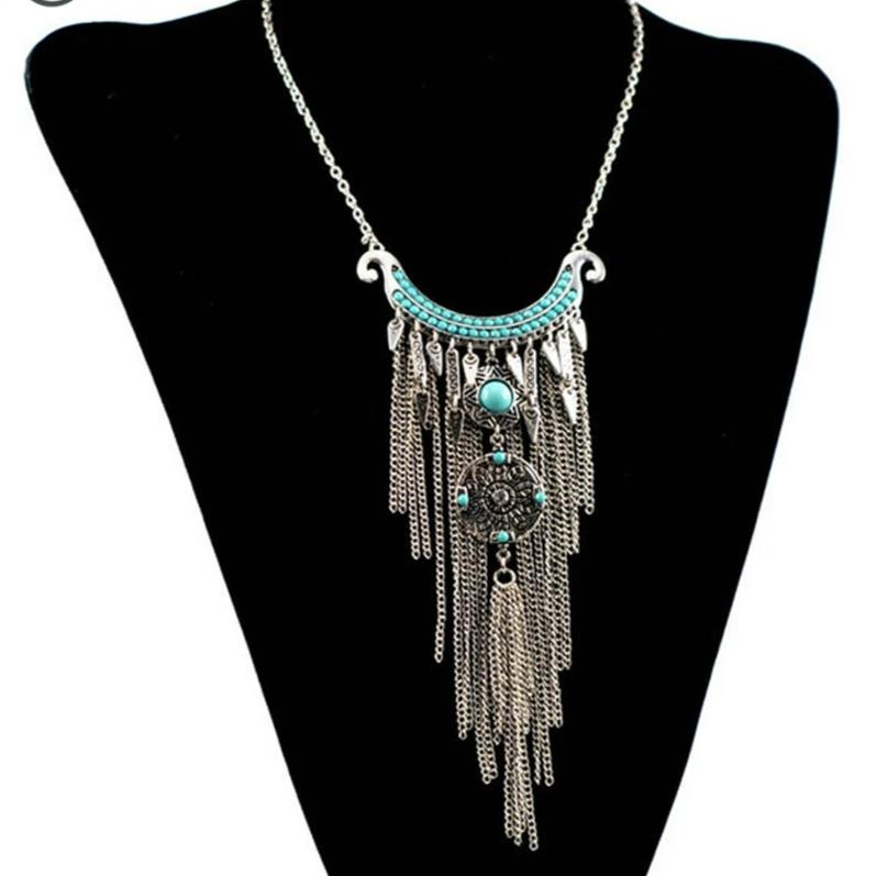 Bohemian Vintage Dream Catcher Pendant Necklace