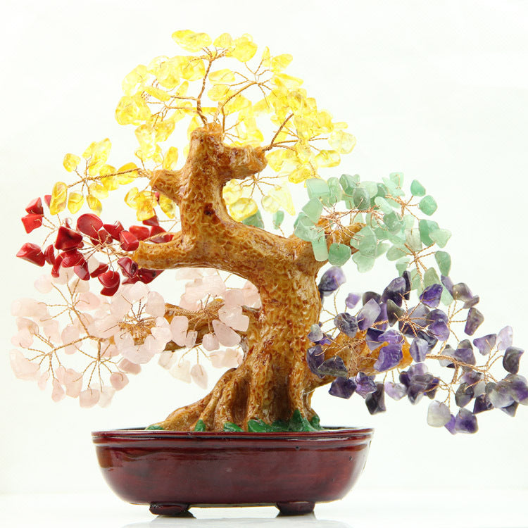 Large natural crystal tree
