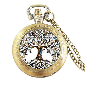 Tree Of Life Pocket Watch Necklace - spiritualistbabe