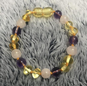 9 Color Baby/Adult Amber Bracelet/Necklace - spiritualistbabe
