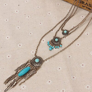 Bohemia Vintage 3 Layered Dream Catcher Necklaces