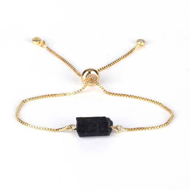 Natural Rough Black Tourmaline Bracelet