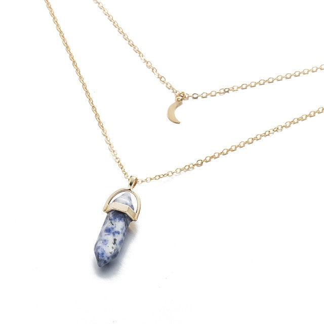 Protection Of The Moon Crystal Necklace