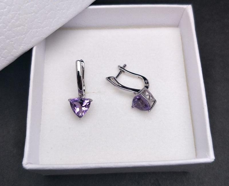 Sterling Silver Brazilian Amethyst Earrings - spiritualistbabe
