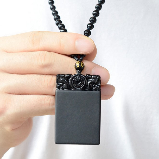 Hand Crafted Obsidian Pendant - spiritualistbabe