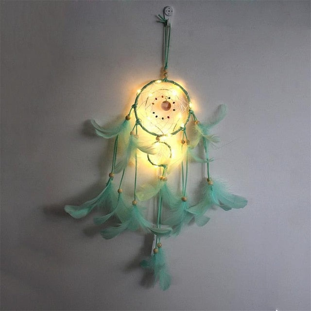 LED Lighting Feather Dreamcatcher - spiritualistbabe
