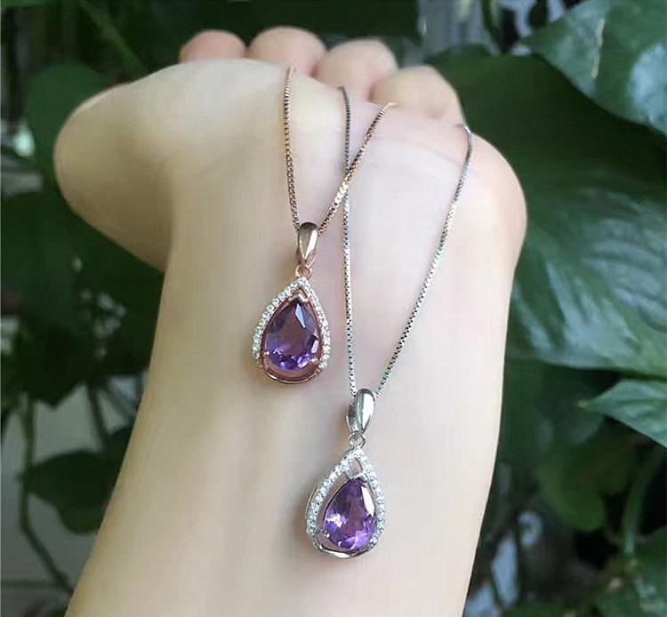 925 sterling silver Amethyst Necklace - spiritualistbabe