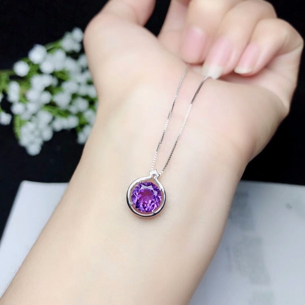 925 Amethyst Necklace - spiritualistbabe