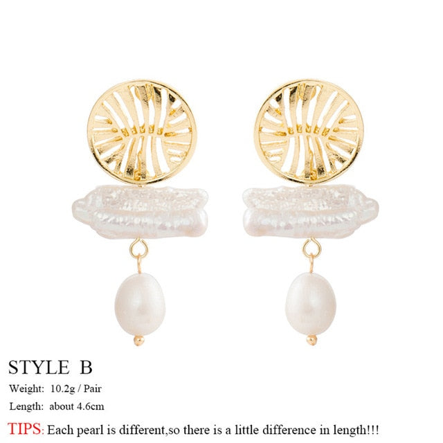 Pearl Drop Earrings - spiritualistbabe
