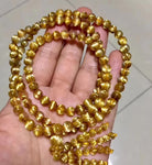 Natural Gold Rutilated Quartz Stretch Beads Bracelet - spiritualistbabe
