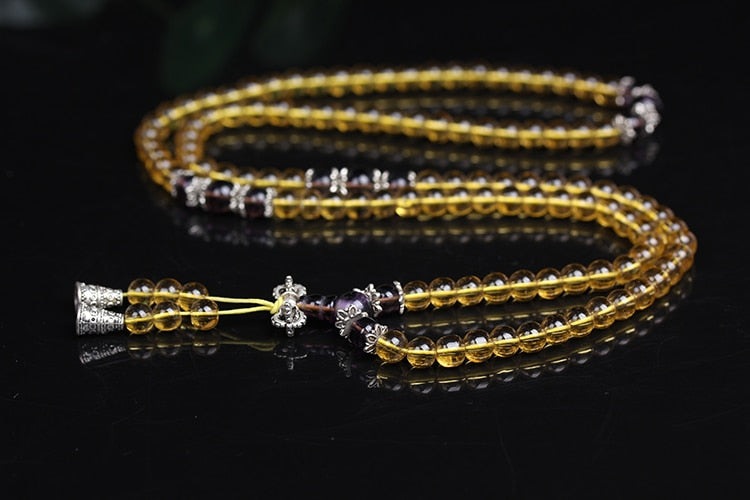 Citrine Beaded Bracelet, Brazic Prayer Beads