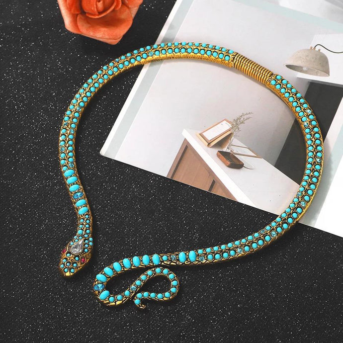Statement Snake Styled Necklace